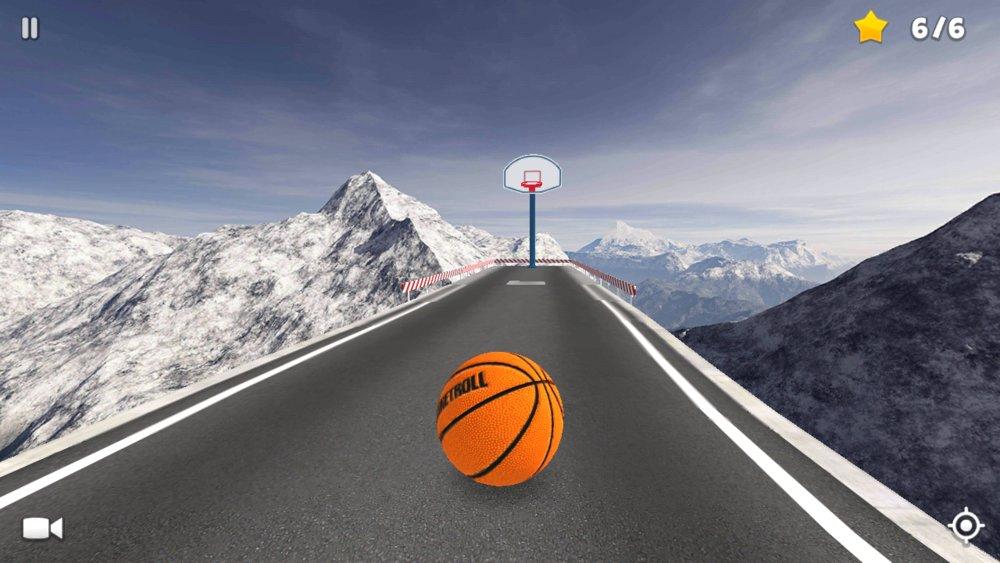Скриншот BasketRoll: Rolling Ball для Android