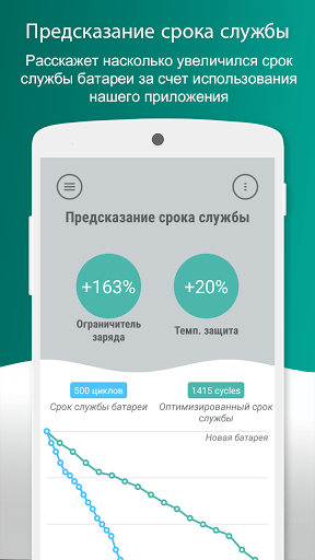 Скриншот Battery Lifespan Extender для Android