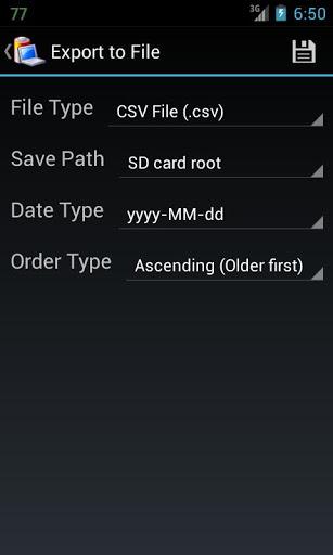 Скриншот Battery Log для Android