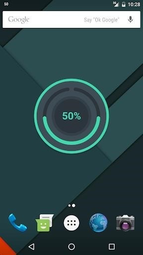 Скриншот Beautiful Battery Disc для Android