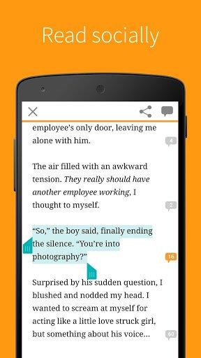 Скриншот Бесплатные книги — Wattpad для Android
