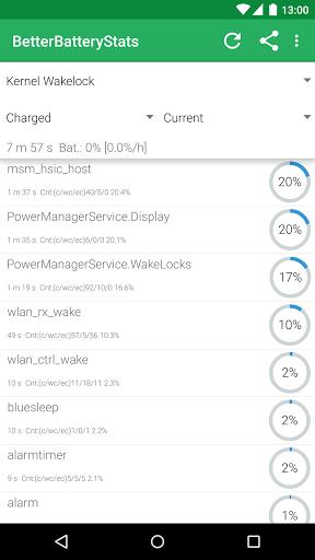 Скриншот BetterBatteryStats для Android