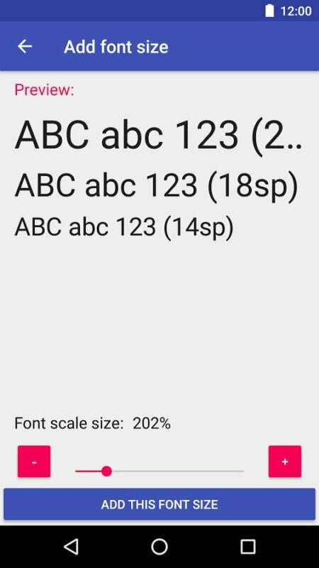 Скриншот Big Font для Android