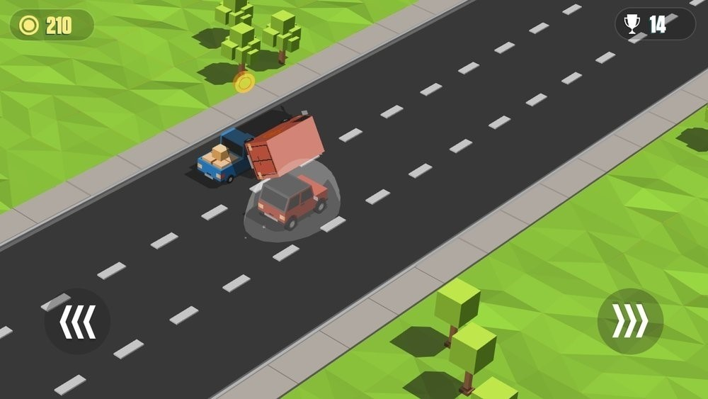 Скриншот Blocky Cars: Traffic Rush для Android