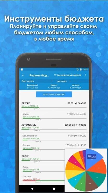 Скриншот Bluecoins Финансы и бюджет для Android