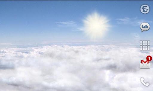 Скриншот Blue Skies Free Live Wallpaper для Android