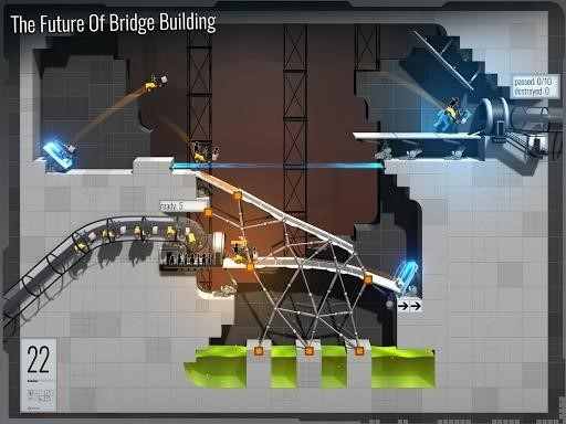 Скриншот Bridge Constructor Portal для Android