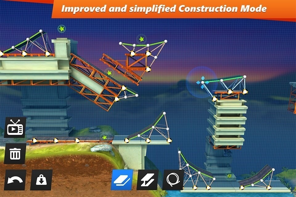 Скриншот Bridge Constructor Stunts для Android