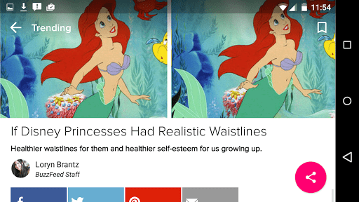 Скриншот BuzzFeed для Android