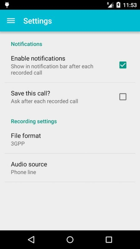Скриншот Call Recorder Pro для Android