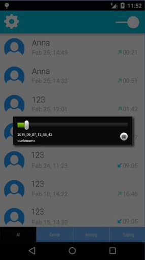 Скриншот Call Recorder Pro для Android