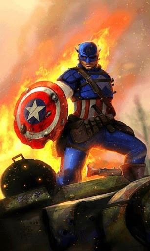 Скриншот Captain America Live Wallpaper для Android