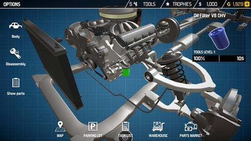 Скриншот Car Mechanic Simulator 18 для Android