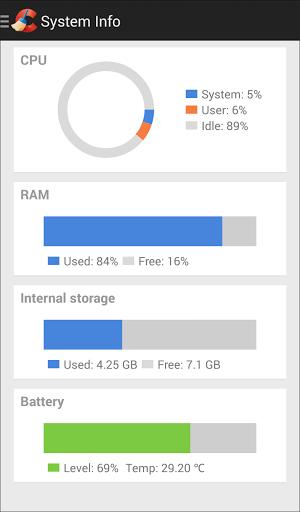 Скриншот CCleaner для Android