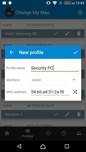 Скриншот Change My MAC для Android