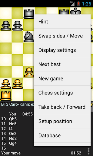 Скриншот Chess genius для Android
