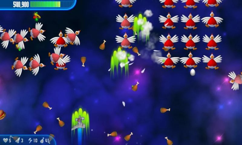 Скриншот Chicken Invaders 3 для Android