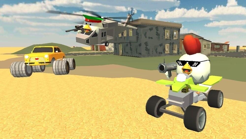 Скриншот Chickens Gun для Android