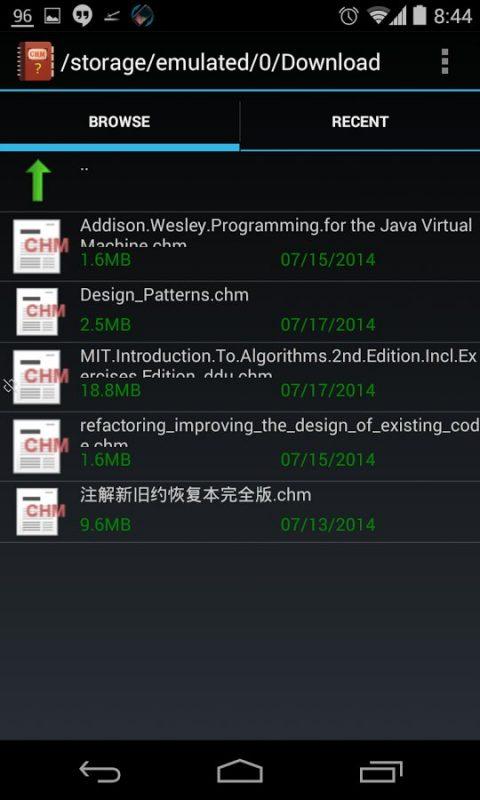 Скриншот Chm Reader F для Android