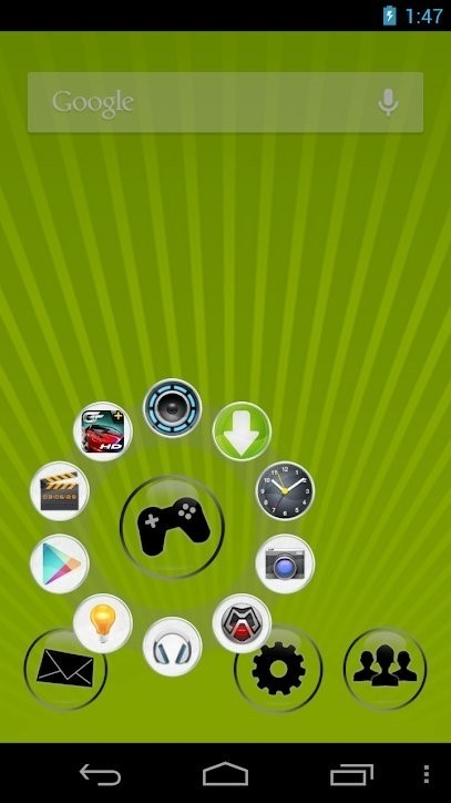 Скриншот Circle Launcher для Android