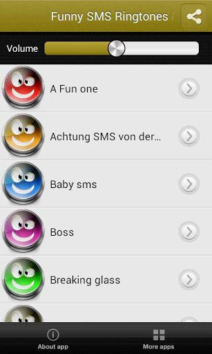 Скриншот Cмешные Mелодии SMS и Звуки для Android