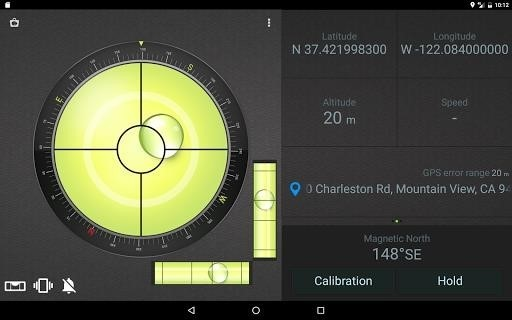 Скриншот Compass Level для Android