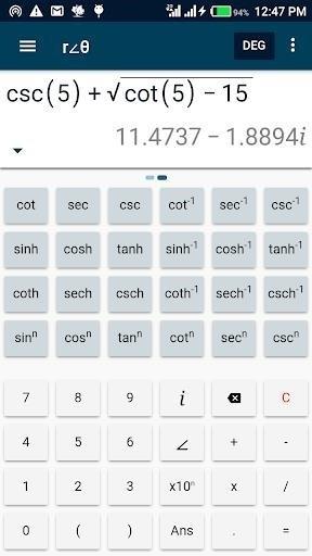 Скриншот Complex calculator Plus для Android