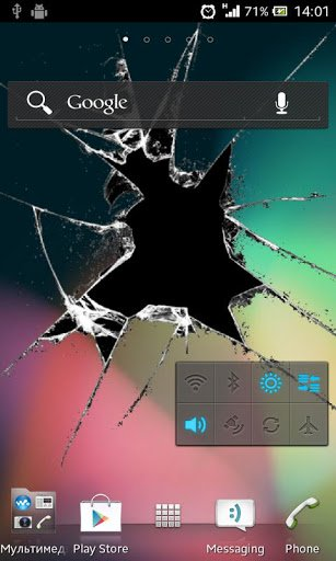 Скриншот Crack экрана Live Wallpaper / Crack Screen Live Wallpaper для Android
