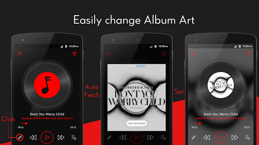 Скриншот Crimson Music Player — MP3 для Android