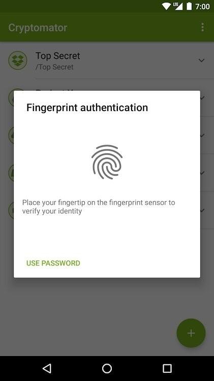 Скриншот Cryptomator для Android