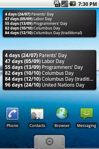Скриншот DarkBirthday Widget для Android