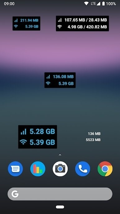Скриншот Data counter widget для Android
