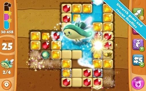 Скриншот Diamond Digger Saga для Android