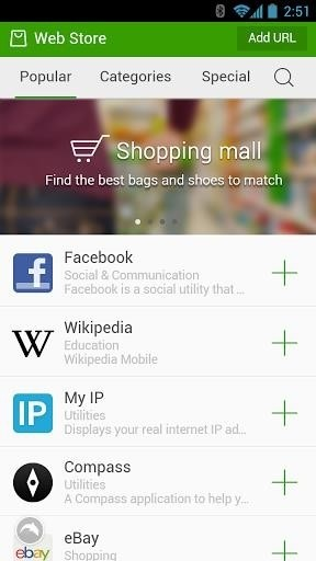 Скриншот Dolphin Browser для Android