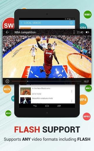 Скриншот Dolphin Video — Flash Player для Android