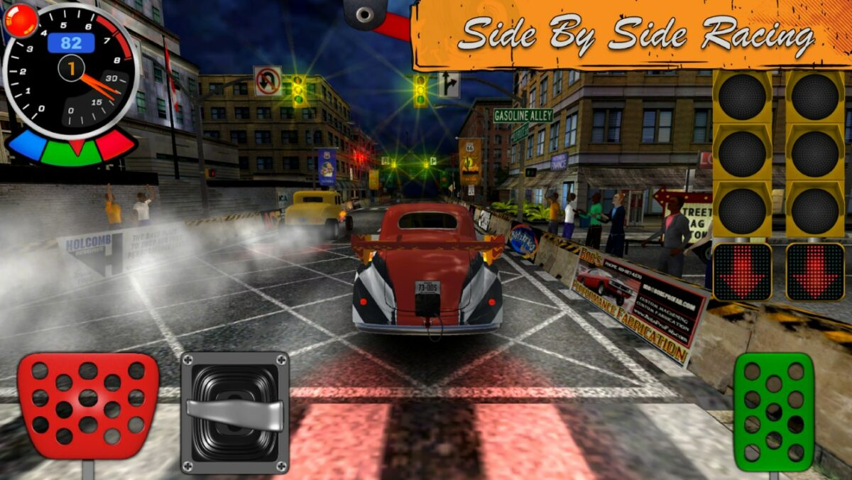 Скриншот Door Slammers 2 Drag Racing для Android