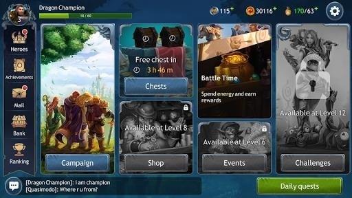Скриншот Dragon Champions для Android