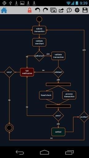 Скриншот DrawExpress Diagram для Android