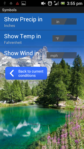 Скриншот DreamWeather — погода для Android