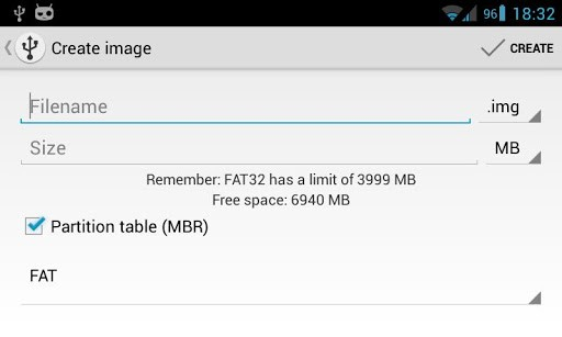 Скриншот DriveDroid для Android
