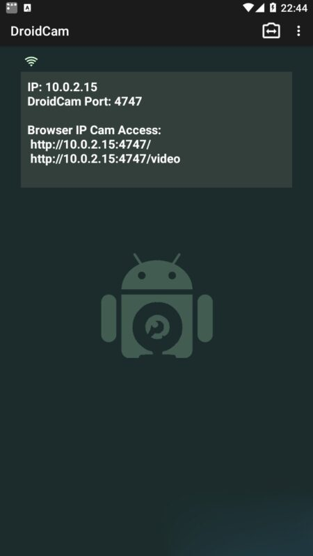 Скриншот DroidCamX HD Вебкамера для Android