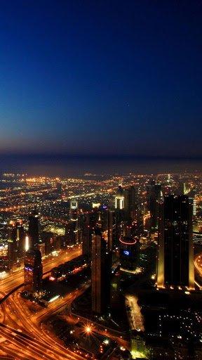 Скриншот Дубай ночью Живые Обои для Android