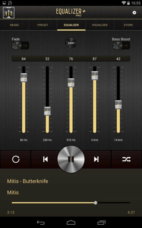 Скриншот Эквалайзер (Equalizer) Pro для Android