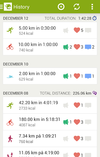 Скриншот Endomondo Sports Tracker для Android