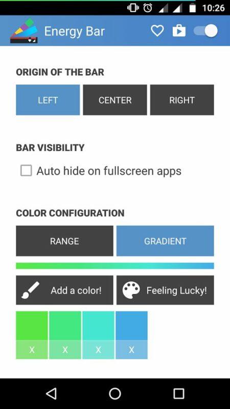 Скриншот Energy Bar для Android