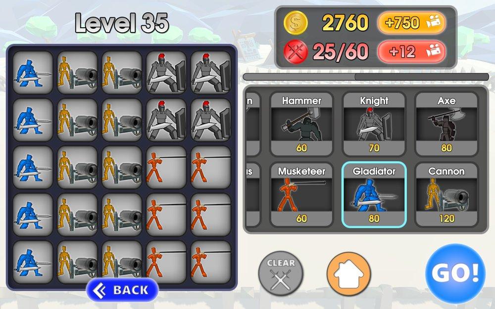Скриншот Epic Battle Simulator для Android