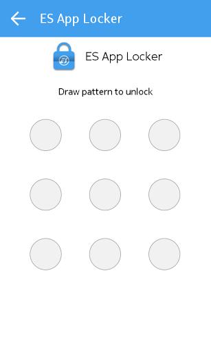 Скриншот ES App Locker для Android