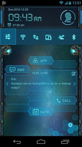 Скриншот EVA Toucher Theme GO Launcher для Android
