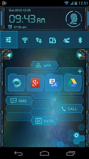 Скриншот EVA Toucher Theme GO Launcher для Android