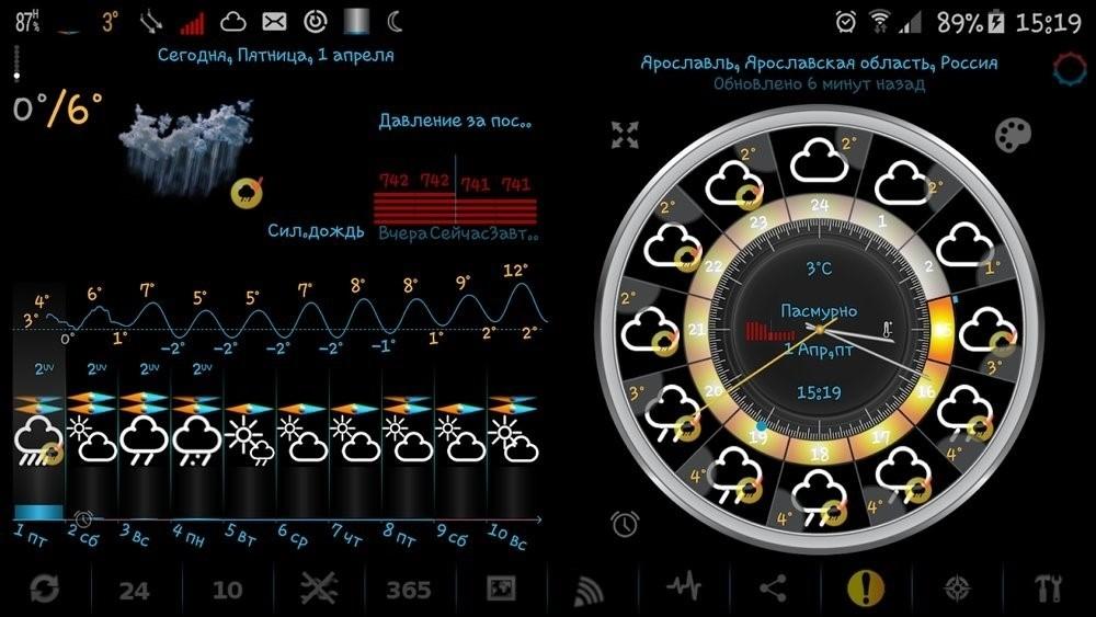 Скриншот eWeather HD для Android